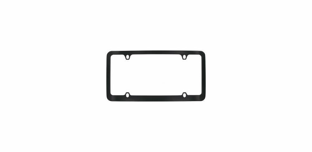 Black Solid Brass License Frame