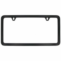 Black Solid Brass Thin Bottom License Frame
