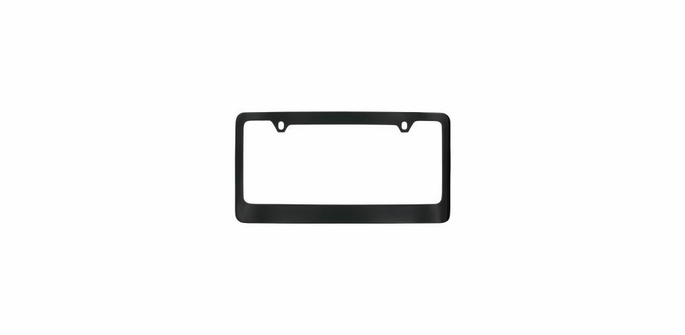 Black Solid Brass Wide Bottom License Frame
