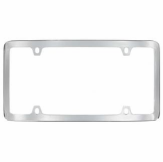 Chrome Plated Brass License Frame