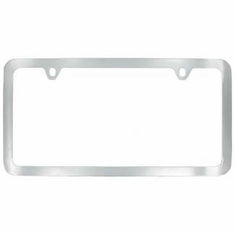 Chrome Plated Brass Thin Bottom License Frame
