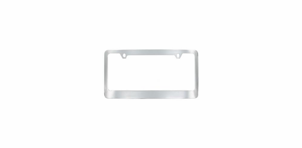 Chrome Plated Brass Wide Bottom License Frame