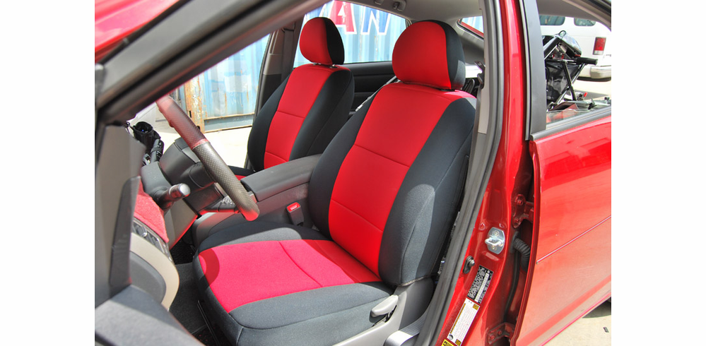 FRONT SEATS:<br>Genuine Neoprene Seat Covers