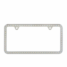 License Plate Frame SWAROVSKI CRYSTALS Multi Color