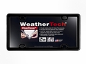 WeatherTech ClearCover™ License Plate Frame: Black Finish