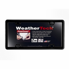 WeatherTech ClearCover� License Plate Frame: Black Finish