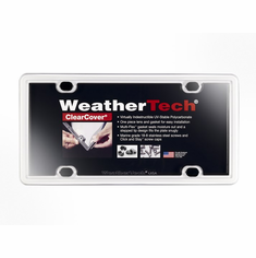 WeatherTech ClearCover� License Plate Frame: White Finish