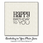 Birthday to You Plain Jane