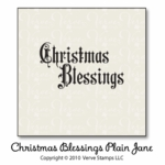 Christmas Blessings Plain Jane