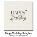 Happy Birthday Plain Jane