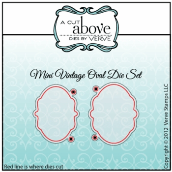 Mini Vintage Oval Die Set