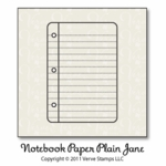 Notebook Paper Plain Jane