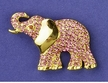 Brilliant Pink Elephant Brooch