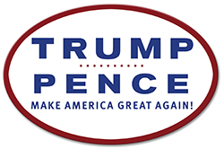 Oval TRUMP PENCE Bumper Sticker