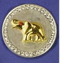 Elephant Coin Pin