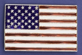 Enamel US Flag Pin