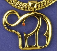 Gold Outline Elephant Neckslide