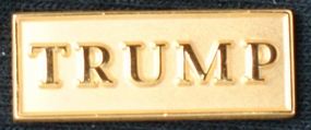 Gold TRUMP Lapel Pin