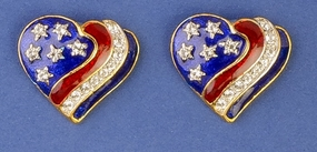 Heart of a Patriot Earrings