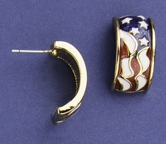 Patriotic Enamel Earrings