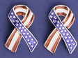 Patriotic Ribbon Earrings