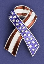 Patriotic Ribbon Pin