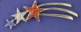 Patriotic Shooting Star Pin