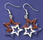 Patriotic Tri-Star Earrings