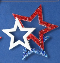 Patriotic Tri-Star Pin