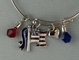 Contemporary Patriotic Charm Bracelet