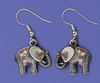 Pewter Tone Elephant Earrings