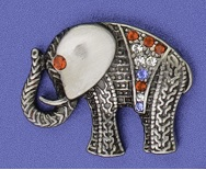 Pewter Toned Elephant Lapel Pin