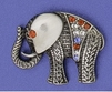 Pewter Toned Elephant Pin