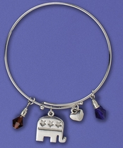Contemporary Republican Charm Bracelet