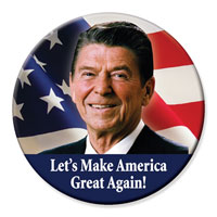 Ronald Reagan Make America Great Again Button