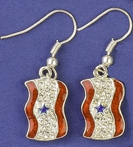 Service Banner Earrings