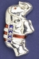 Silver Patriotic Standing Elephant Pin