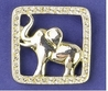 Square Elephant Pin