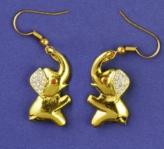 Swinging Elephant Earrings