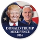 Trump/ Pence 2016 Button