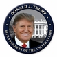 President Donald Trump Whitehouse Button