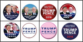 Trump Pence Buttons - 500 Pack