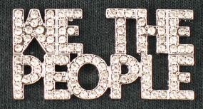 WE THE PEOPLE Crystal Pin