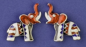 Whimsical Elephant Earrings