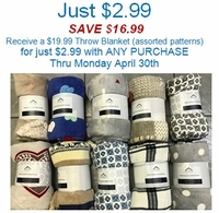$2.99 Throw Add-On-Deal