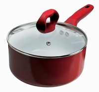 Candy Apple 2 Qt Saucepan with Glass Lid