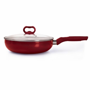 Candy Apple 4.5 Qt Deep Cooker with Glass Lid