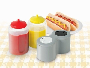 4 In 1 Condiment Dispenser Set