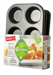 4pc Toaster Oven Bakeware Set
