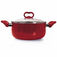 Candy Apple 5 Qt Dutch Oven with Glass Lid